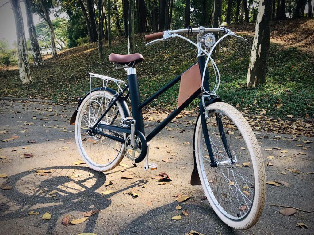 smart bike elétrica dentro de um parque em são paulo