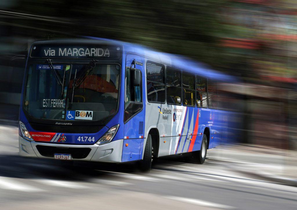 Ônibus do Consórcio Unileste. Foto: Jean Veber